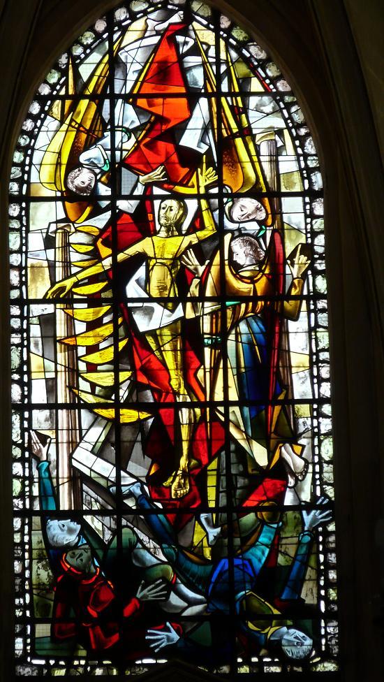 Photos de vitraux la r surrection - Saint maclou quimper ...