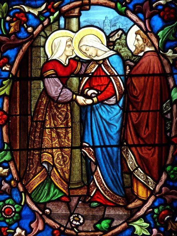 Photos de vitraux la visitation - Saint maclou quimper ...