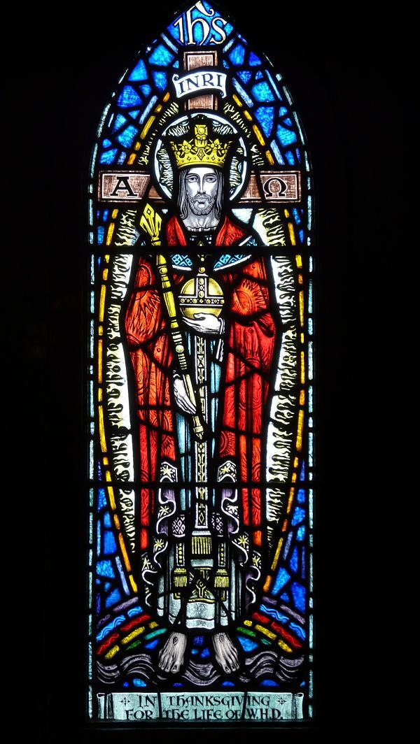 Photos de vitraux le christ roi - Saint maclou chartres ...